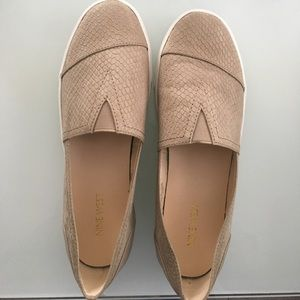 Nine West Tan slip on sneakers